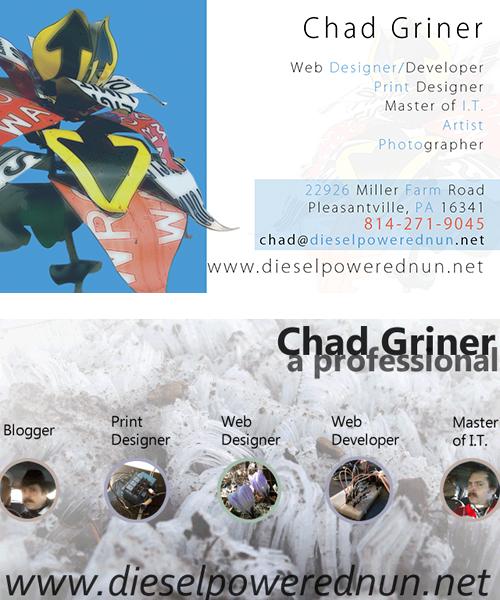 Chad Griner\'s Resume/Portfolio
